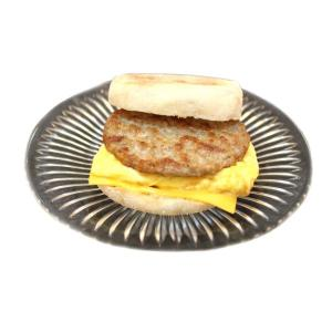 English Muffin with Sausage, Eggs & Cheese